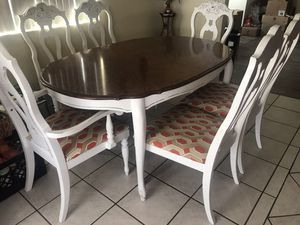 Wood Dining Set for Sale in Bloomington, CA
