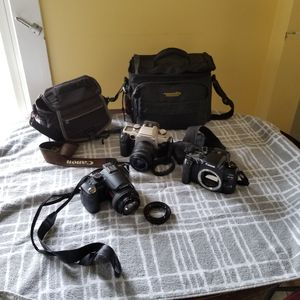 2 canon camera only films and 1 lumix need to be fix the lense for Sale in Danbury, CT