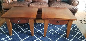 Solid wood end tables with drawers for Sale in Alexandria, VA