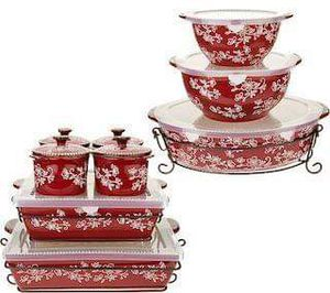 Temp-tations Floral Lace 16-Piece Bakeware Set for Sale in Whittier, CA