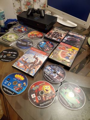 Ps2 phat, control plus 14 games,. for Sale in Zephyrhills, FL