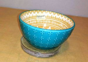 $3 Pfaltzgraff turquoiise moroccon bowl for Sale in Corona, CA