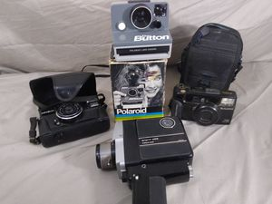 Lot of Old Vintage Cameras Polaroid The Button Camera Fujifilm Argus 35mm for Sale in Cleveland, OH