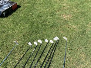 Taylor made RAC lefty clubs 3,5,6,7,8,9,P for Sale in Gilbert, AZ