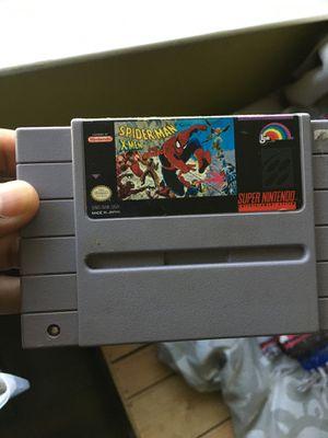 SNES spider man x men arcade revenge game for Sale in Woodland, CA
