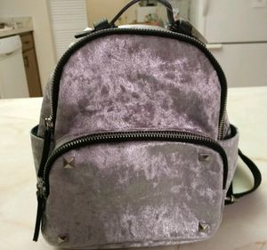 Steve Madden Velvet mini backpack silver for Sale in North Port, FL