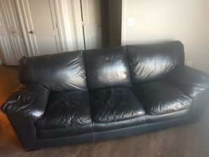 Black leather couch for Sale in Salt Lake City, UT