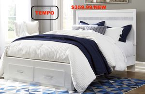 Jalory Queen Storage Bed, White for Sale in Fountain Valley, CA