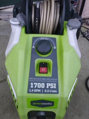 Greenwork 1700 psi portable pressure washer for Sale in Orlando, FL
