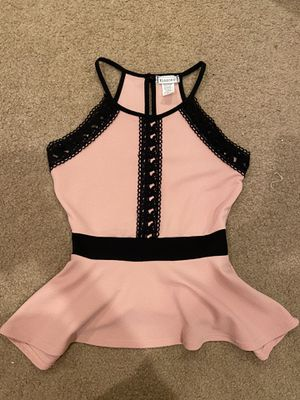 Pink Peplum Top Size Small for Sale in Las Vegas, NV