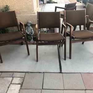 Set Of 9 Used Arm Chairs, Listed Price Is For All Chairs for Sale in Fowler, CA