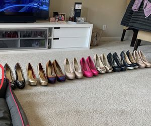 10 pairs high heel shoes size 8 for Sale in Santa Clara, CA
