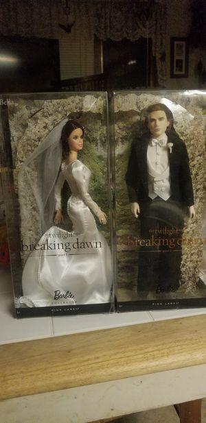 Twilight Breaking Dawn Edward and Ella Barbie Wedding Set NRFB for Sale in North River, ND