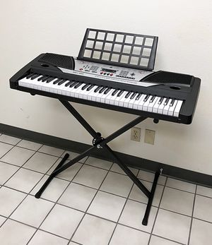 New $75 Music Electric Keyboard Digital 61 Key Piano Beginner Organ w/ Stand for Sale in South El Monte, CA