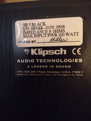 Klipsch Synergy SB 3 Speakers for Sale in Portland, OR