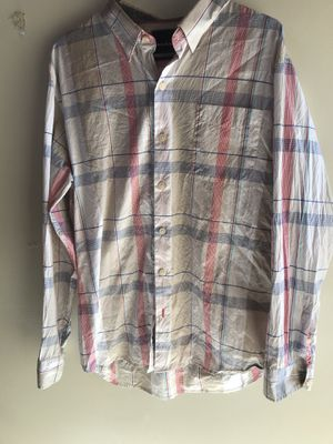Men's size large tommy Bahama stripe dress shirt for Sale in Clermont, FL