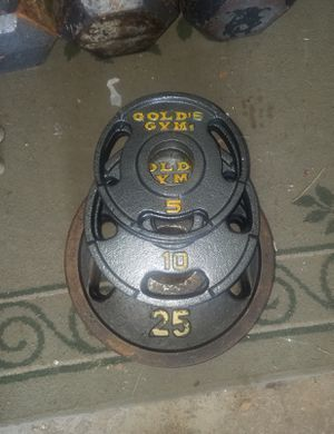 Gold's Gym Olympic barbell weights for Sale in Orland Park, IL