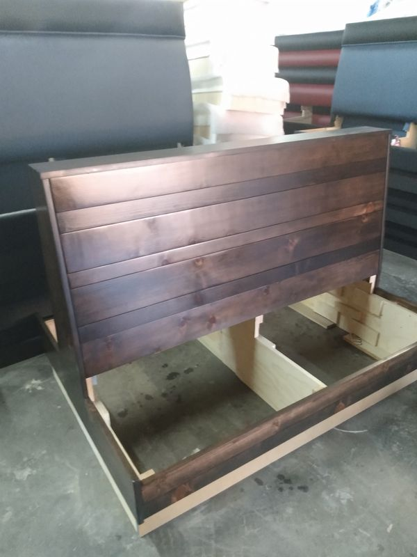 """Pine Wood Booth Size: 24"""" d x 36"""" h x 48' w"""