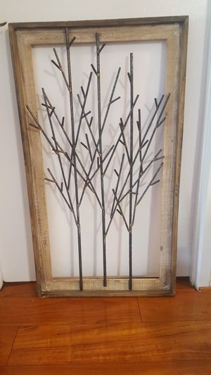 Wood and metal tree / twig wall art decor for Sale in Alexandria, VA