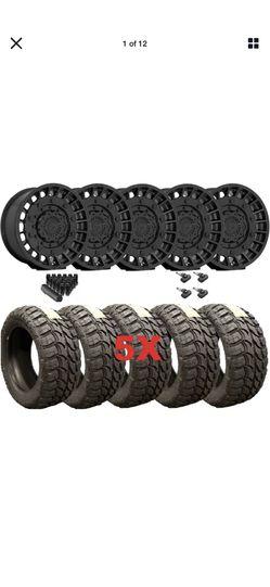 Fuel Wheels Rims Wrangler Gladiator Militia Black for Sale in Orange,  CA