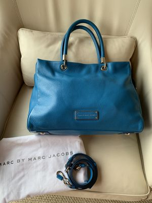 MARC by MARC JACOBS TOTE HANDBAG PURSE LARGE Too Hot Too Handle In Aquamarine for Sale in Arlington, VA