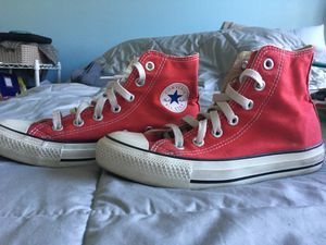 Red high top converse! for Sale in Phoenix, AZ