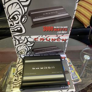 Crunch Car Audio Car Stereo Amplifier . 3000 watts Class D With Remote Bass Knob . New Years Flash Sale $99 While They Last . New for Sale in Mesa, AZ