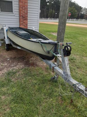 Boat, trailer, motor for Sale in Cobbtown, GA