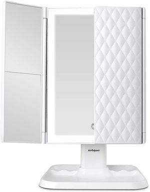 Makeup Mirror Vanity Mirror with Lights - 3 Color Lighting Modes 72 LED Trifold Mirror for Sale in Orange, CA