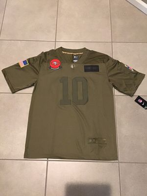 Men's San Francisco 49ers Jimmy Garoppolo Camo 2019 Salute To Service Limited Jersey for Sale in Prospect Heights, IL