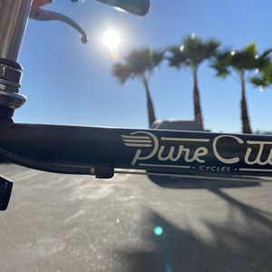 """Black W/tan Leather Bars Pure City 8 Speed """"Cruiser"""" Bicycle for Sale in Los Angeles, CA"""