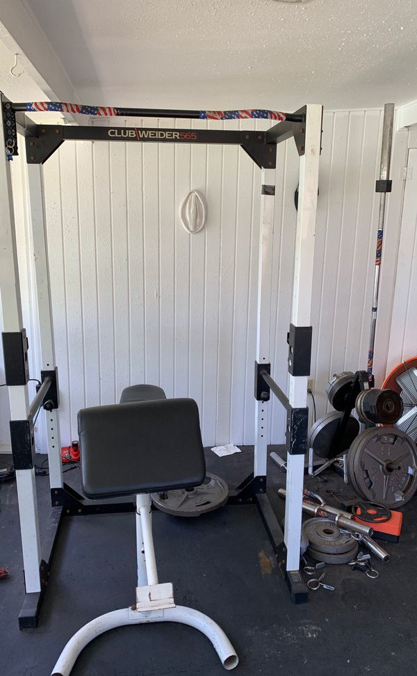 Weider squat rack power cage