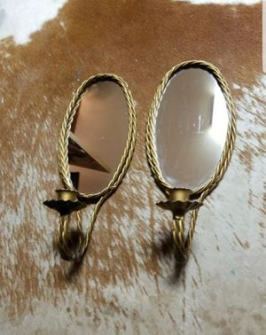 Wall sconces vintage candle decoration mirror for Sale in Dallas, TX