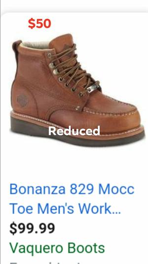 Bonanza steel toe work boots for Sale in Wichita, KS