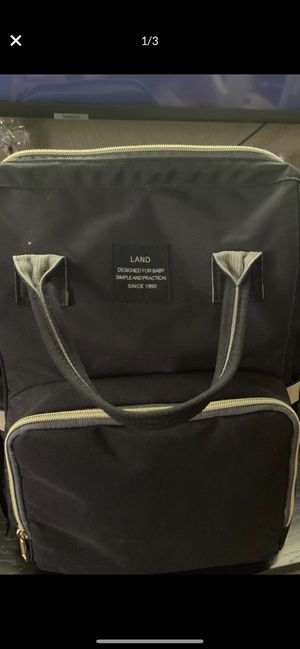 LAND diaper backpack black for Sale in Fontana, CA