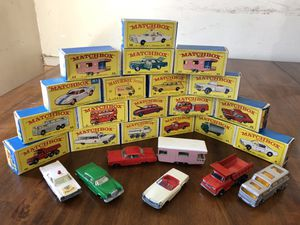Amazing MatchBox Toy Series Collection all 19. for Sale in Los Alamitos, CA