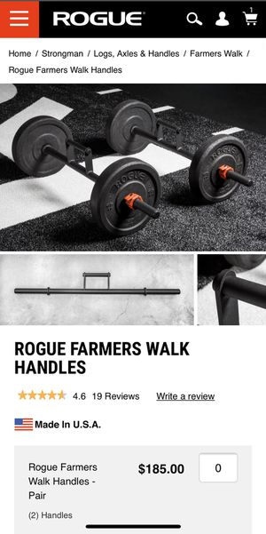 Rogue Fitness Farmers Walk Handles for Sale in San Diego, CA