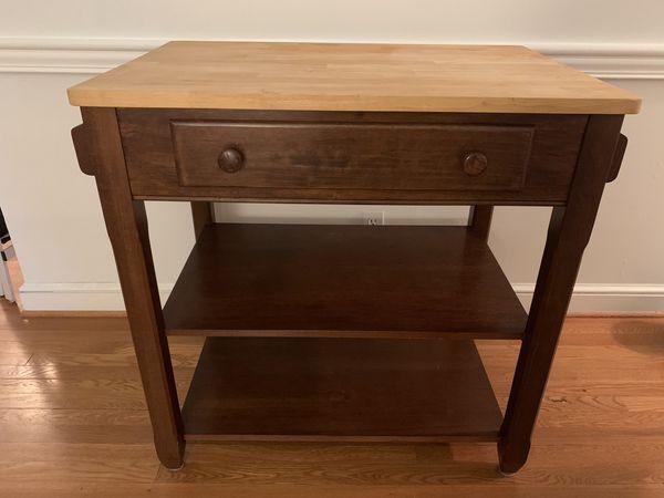 Kitchen Island or buffet - wood, drawer, spice rack, towel rack