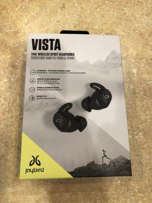 Jaybird VISTA Black Bluetooth Wireless In-Ear Headphones (new - open box) for Sale in Stafford, VA