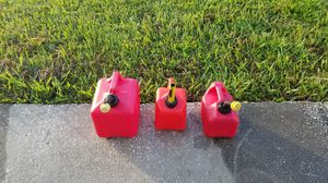 (3) Gas Cans SOLD SEPARATELY or TOGETHER for Sale in Palm Bay, FL