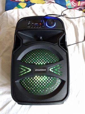 BLUETOOTH SPEAKER SYLVANIA WIRELESS RECHARGEABLE PORTABLE RADIO FM USB MICROSD PORT for Sale in Escondido, CA