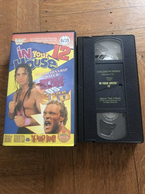 WWF IN YOUR HOUSE 12 1996 VHS TAPE COLISEUM VIDEO WCW WWE for Sale in CAPE ELIZ, ME