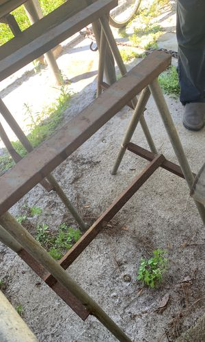 Sawhorses and metal table for Sale in Winter Haven, FL