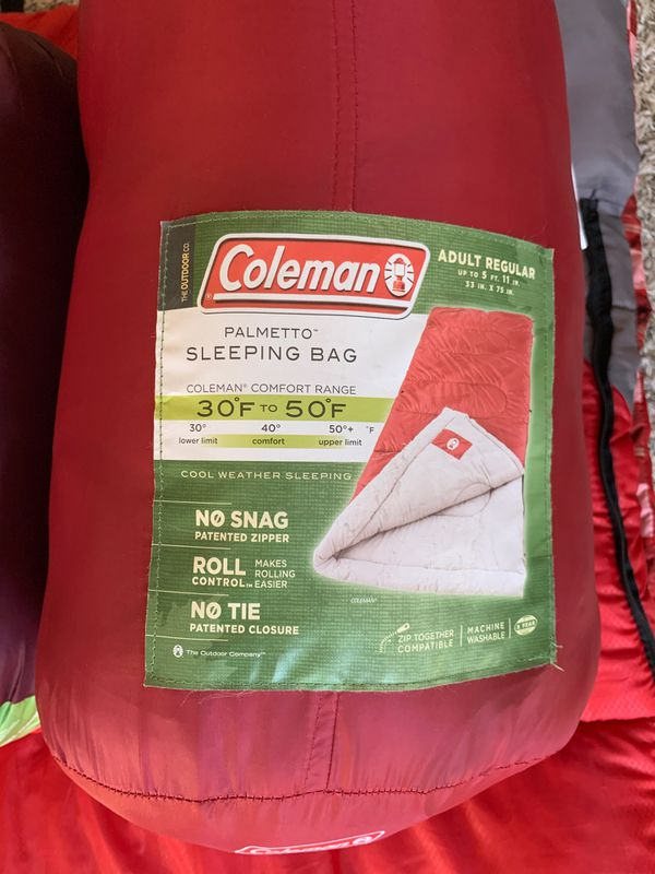Coleman Camping Sleeping bags (3 quantity)