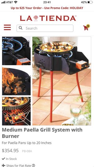 Garcima Paella Grill System with Burner and Regulator for Sale in Delray Beach, FL