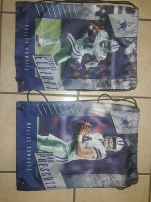 Dallas cowboys draw string backpacks! $15 each or $25 for both. for Sale in Saginaw, TX