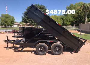 New 2019 Dump Trailer 6x12x2 two 5200 axles for Sale in Mesa, AZ
