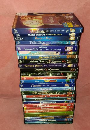 All Different (26) Lot Disney DVD Movies - Cinderella Sleeping Beauty Nemo Poppins Cars Bambi Lion King Snow White for Sale in Pinellas Park, FL