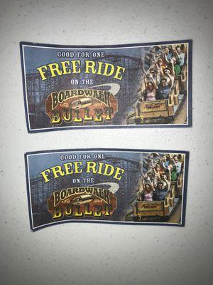 Kemah board walk bullet tickets for Sale in Houston, TX