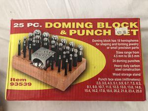 Doming Block & Punch Set for Sale in Atlanta, GA